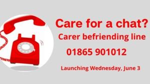 We are proud to fund a new befriending phone line for family, friends and carers