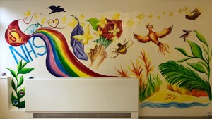 Colourful creation commemorates COVID efforts at Witney Community Hospital
